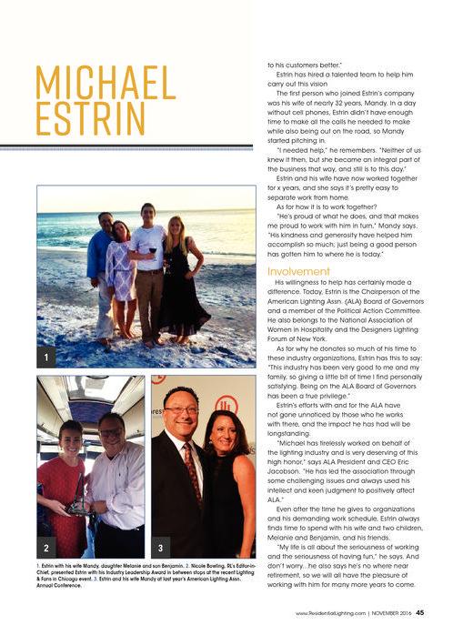 Industry Leadership Award Michael Estrin