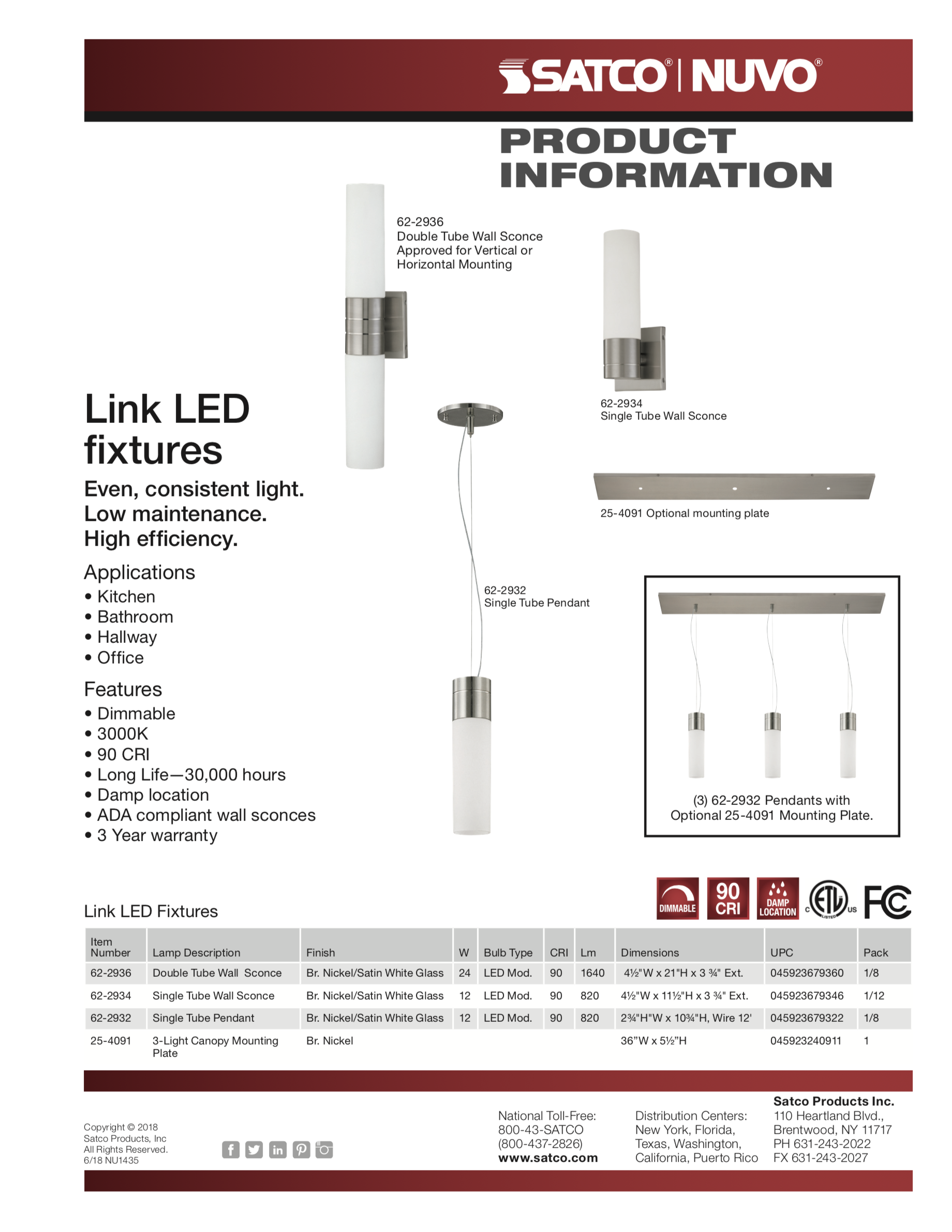 Youll Love The Versatile Link Its More Powerful Than You Think Wiring Lights In Series Or Parallel Diagram Further Satco Led Lighting Solutions Feature Most Light Fixture On Market Luminaires Are Best Solution For Kitchen