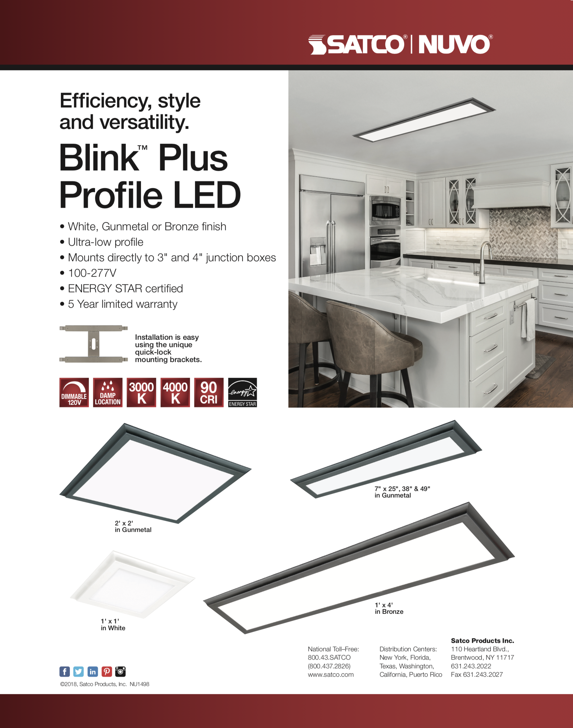Blink by SATCO LED Light panel in New York and New Jersey from Estrin Zirkman