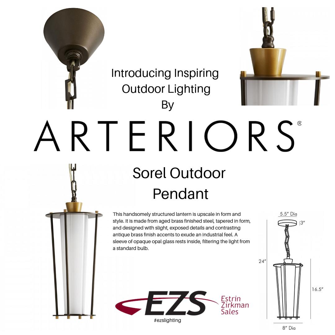 Arteriors Presents Luxury Outdoor Lighting Estrin Zirkman