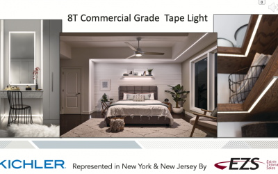 The 8T Series of Commercial Grade LED Tape Light by KICHLER