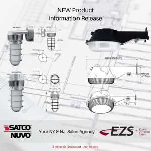 SATCO Introduces New Outdoor LED Commercial Lights