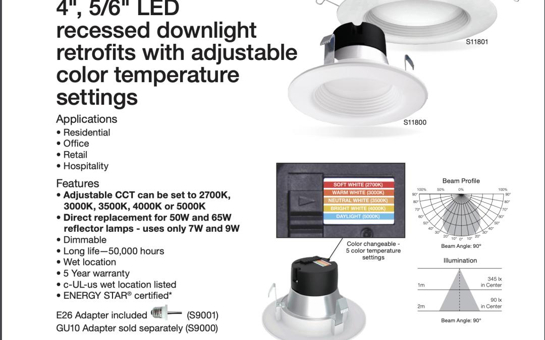 SATCO Product Information S11800 & S11801 LED Retrofit CCT Control