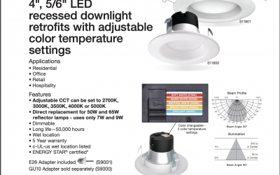 SATCO Product Information S11800 & S11801 LED Retrofit CCT Control