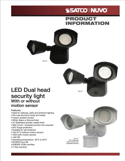 The Dual Head LED Security Light
