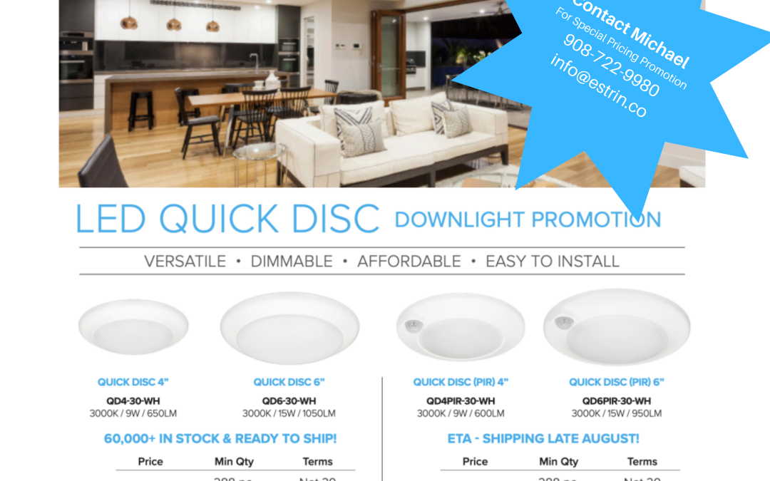 LED QUICK DISC Promotion Ready To Ship