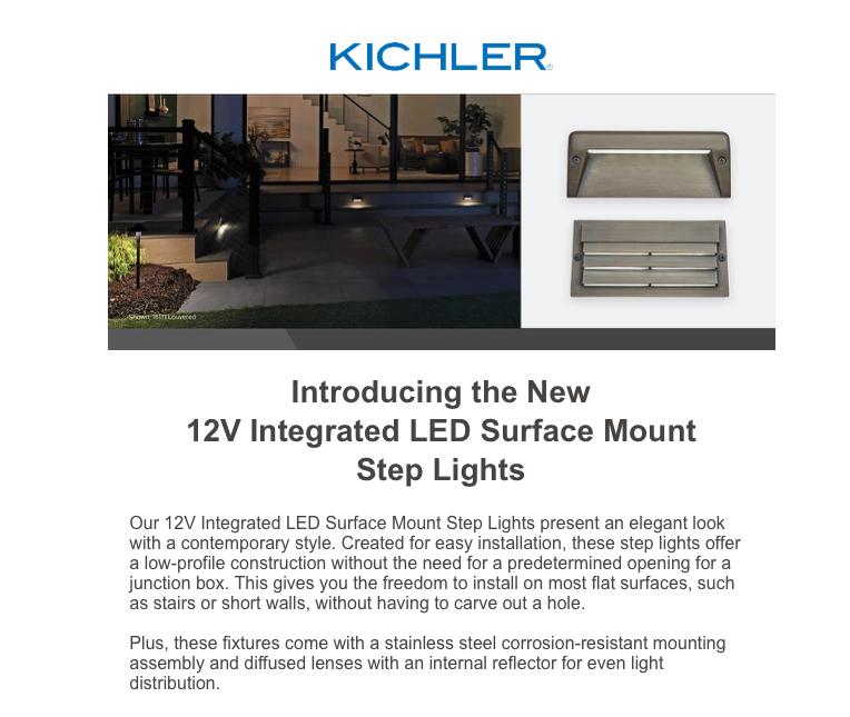 Estrin Zirkman Surface mount LED Step Lights KICHLER