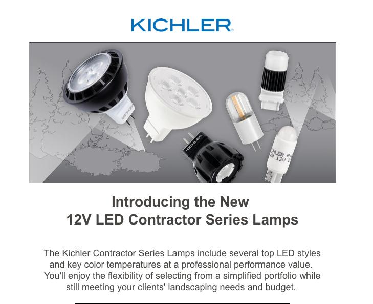 Kichler LED 12 lamps
